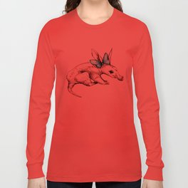 Aardvark with Bow Long Sleeve T-shirt