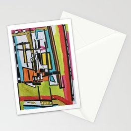 Mid-Century Modern Geometry series: Meadowlane #5 [det] Stationery Cards