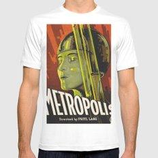 Metropolis Mens Fitted Tee MEDIUM White