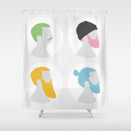 4x Mister hipster Shower Curtain