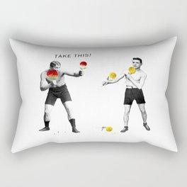 Floral fight - humor Rectangular Pillow
