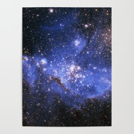 Blue Embrionic Stars Poster
