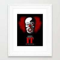 pennywise Framed Art Prints featuring Pennywise by Beery Method