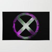 x men Area & Throw Rugs featuring X-Men by Trey Crim