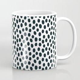 Dots, Black on White Coffee Mug