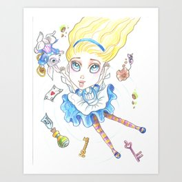 Alice In Wonderland Again Art Print