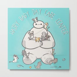 Hairy Baby Day Care Center Metal Print