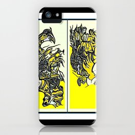When the world fulls down, will you still be standing? iPhone Case