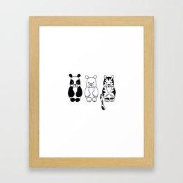 Little Animals Framed Art Print