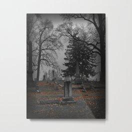 cemetery fog Metal Print