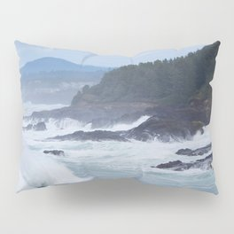 Crashing Waves In Blue Pillow Sham