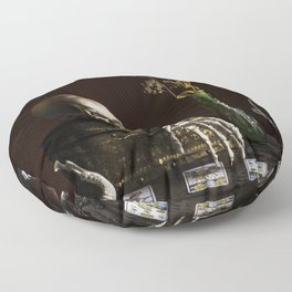 Vanitas, Memento Mori, Macabre Halloween Photo Floor Pillow