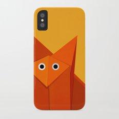 fdb1209e091d Geometric Cute Origami Fox Portrait iPhone X Slim Case