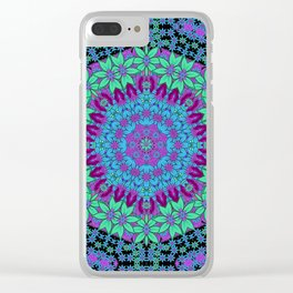 bloom and wreaths in winter season decorative calm ornate time Clear iPhone Case