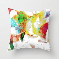 silver Throw Pillows featuring Silver by Yilan