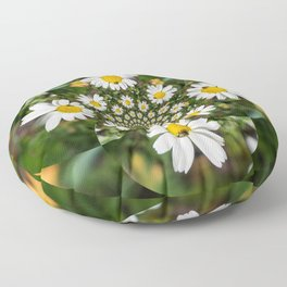 Magic Field Summer Grass - Chamomile Flower with Bug - Polarity #1 Floor Pillow