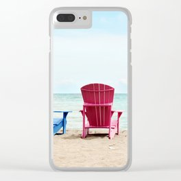 AFE Beach Chairs Clear iPhone Case