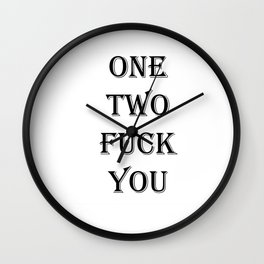 one two Wall Clock