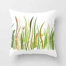 Prairie Watercolor by Robayre Throw Pillow