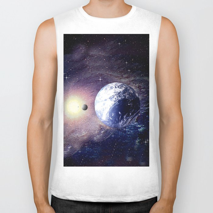 Space and Earth. Biker Tank