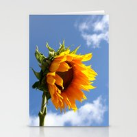 sunflower Stationery Cards featuring sunflower by Hannah