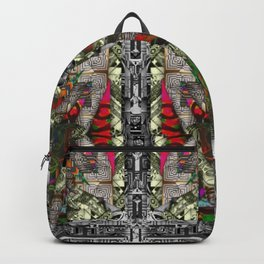 black and white explosion Backpack