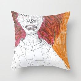 Inside I Scream Throw Pillow