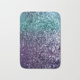Aqua Purple Ombre Glitter #1 #decor #art #society6 Bath Mat