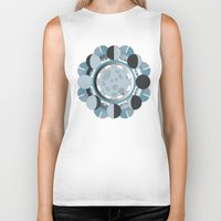 moon phases Biker Tanks featuring Moon Phases by TypicalArtGuy