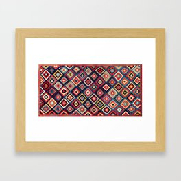 Talish  Antique Moghan South East Caucasus Kilim Framed Art Print