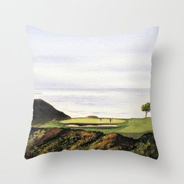 Torrey Pines South Golf Course Hole 3 Throw Pillow