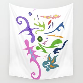 My pieces of invisible worlds Wall Tapestry