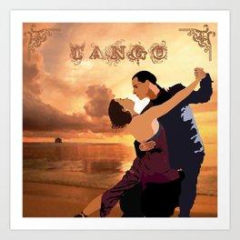 TANGO DANCE Art Print