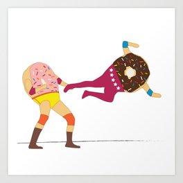 Dropkicks and Donuts Art Print