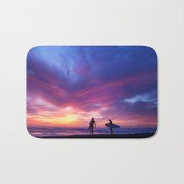 Surfer's Sunset Bath Mat