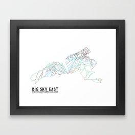 Big Sky, MT - Eastern Exposure - Minimalist Trail Map Framed Art Print
