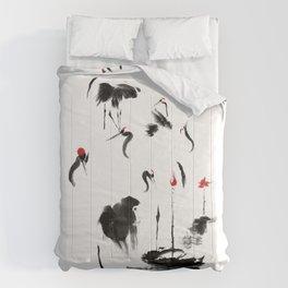 7 Cranes Comforters