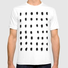 Jacques Pattern - Pure White Mens Fitted Tee SMALL White