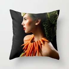 Eat Your Greens Throw Pillow