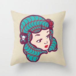 Girl Power Dynamite Laser Beam Throw Pillow