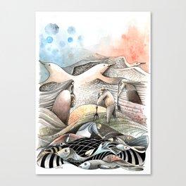 Entre terre et mer Canvas Print