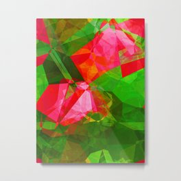 Pink Roses in Anzures 5  Abstract Polygons 1 Metal Print