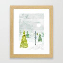Christmas Forest Framed Art Print