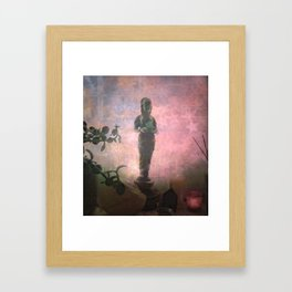 We Can't See Through Her, But She Lets The Light In Framed Art Print
