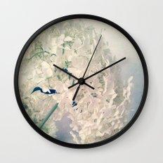 Romantic Hydrangea Wall Clock