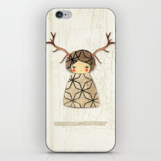 Deer paperdolls iPhone & iPod Skin