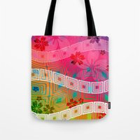 band Tote Bags featuring hawaii band by Norma Lindsay
