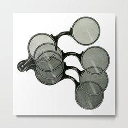 Glasses 2 Metal Print