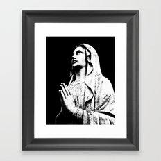 Pray over me Framed Art Print