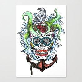 Anchor Skull Canvas Print
